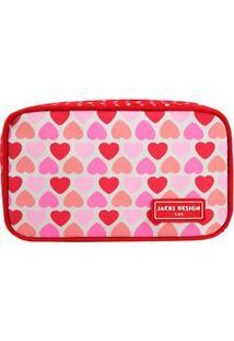 Necessaire/Estojo Jacki Design - Flor - Feminino-Vermelho