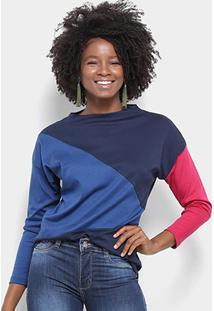 Camiseta Lacoste Manga Longa Tricolor Feminina - Feminino