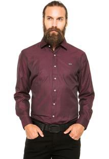 Camisa Mr. Kitsch Geométrica Vinho