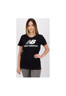 Camiseta New Balance Stacked Feminina Preta