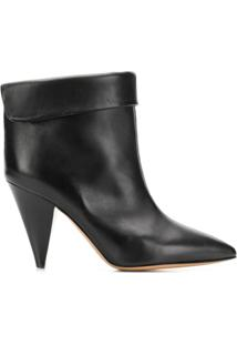Isabel Marant Ankle Boot 'Lisbo' De Couro - Preto