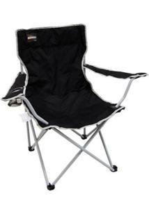 Cadeira Dobrável Nautika Alvorada Cor Com Porta Copo - Unissex-Preto