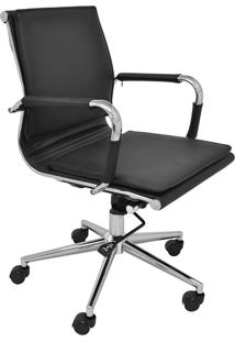 Cadeira Baixa Oficce Pu Valencia -Rivatti - Preto
