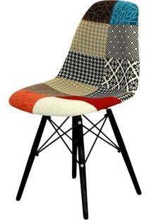 Cadeira Eames Dkr- Azul & Madeira Preta- 80,5X46,5X4Or Design