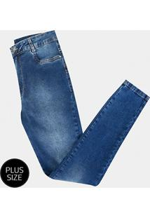 Calça Jeans Sawary Cigarrete Plus Size Feminina - Feminino