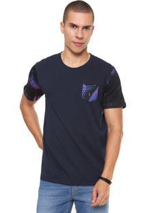 Camiseta Coca-Cola Jeans Tropical Com Bolso Azul-Marinho