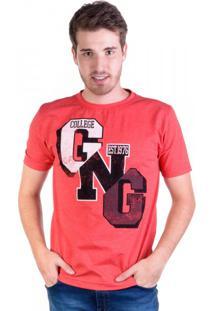Camiseta College Gng Vermelha
