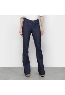 2a4d58342 R$ 69,99. Netshoes Calça Jeans Flare Coffee Amarração Cintura Média Feminina  ...