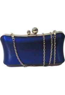Clutch Bolsine Effy Azul