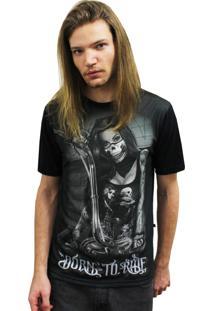 Camiseta Manga Curta Alkary Motoqueira Preto