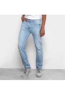 Calça Jeans Hang Loose 5 Pockets Hl Masculina - Masculino-Azul