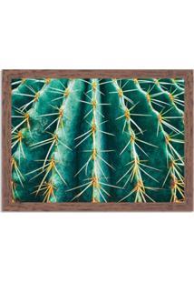 Quadro Decorativo Cacto Verde Madeira - Médio