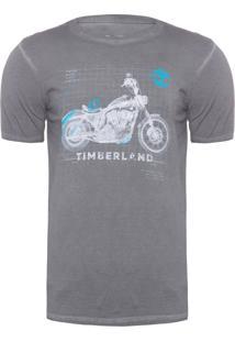 Camiseta Masculina X Ray Moto - Cinza