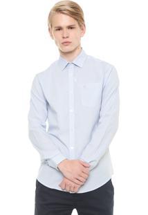 Camisa Calvin Klein Reta Xadrez Azul