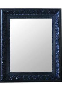 Espelho Moldura Rococó Raso 16385 Preto Art Shop