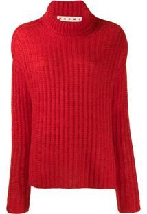 Marni Suéter Canelado - Vermelho