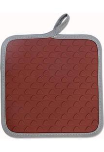 Apoio Brinox Para Panelas/Luva Glacê Chocolate - Tricae