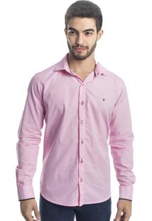 Camisa Slim Fit Tony Menswear Social Rosa