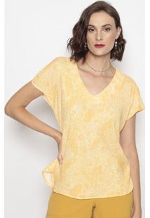 Blusa Floral- Amarela- Cotton Colors Extracotton Colors Extra