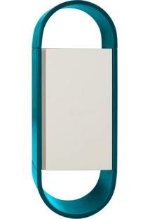 Armário Para Banheiro Wish 1Pt Azul E Branco
