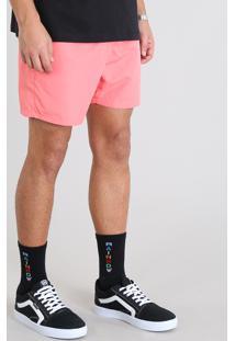 Short Masculino Com Cordão Coral