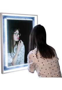 Espelho Decorativo Led 40X60 Cm Prata