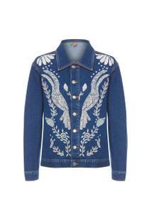 Jaqueta Feminina Revoada Refarm Jeans - Azul