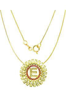 Gargantilha Prata Mil Navete C/ Zircã´Nia Folheado Em Ouro Dourado - Dourado - Feminino - Dafiti