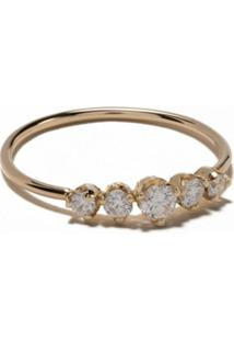 Zoë Chicco Anel De Ouro 14 K Com Diamante - Yellow Gold