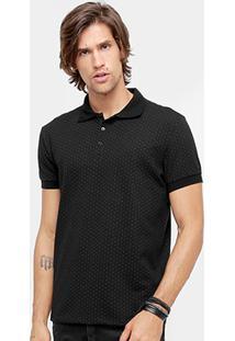 Camisa Polo Colcci Poá Maquinetado Masculina - Masculino
