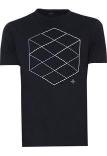 Camiseta Dudalina Estampada Azul-Marinho