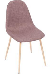 Cadeira Charla- Marrom & Bege- 85,5X45X40Cm- Or Or Design