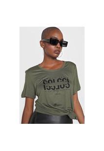 Camiseta Colcci Common Sense Verde