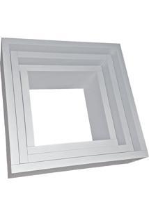 Nicho Organibox Quadrado Branco