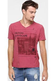 Camiseta Triton Gola V City - Masculino