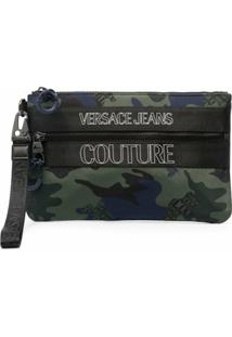 Versace Jeans Couture Camouflage Print Clutch - Verde