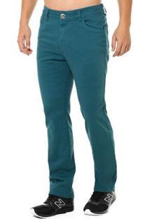 Calça Jeans Osmoze Mid Rise Masculina - Masculino-Verde