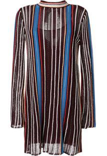 M Missoni Vestido Túnica Listrado - Roxo
