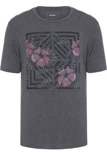 Camiseta Masculina Gráfica - Cinza