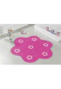 Tapete Formato Premium 70Cmx70Cm Jardim Pink Guga Tapetes