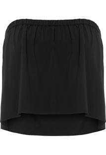 Top Cropped Solid - Preto