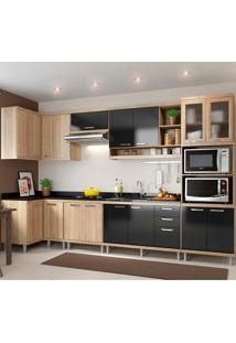 Cozinha Compcta 7 Peças 5830-S15 - Sicília - Multimóveis - Argila / Preto