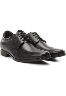 Sapato Social Couro Democrata Comfort Dress Masculino - Masculino-Preto