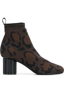 Salvatore Ferragamo Ankle Boot 'Capo' De Couro - Marrom