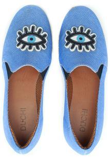 Alpargata Duchi Patch Olho Grego Feminina - Feminino-Azul