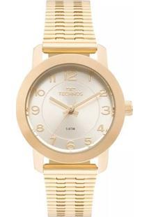Relógio Feminino Technos 2035Mlr/4B Aço - Feminino-Dourado