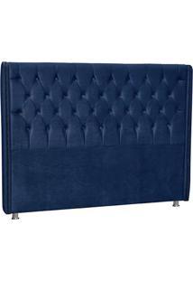 Cabeceira De Casal Firenze Azul - Lc Móveis