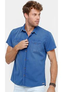 Camisa Colcci Tinturada Bolso Masculina - Masculino