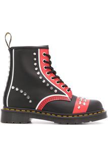 Dr. Martens Ankle Boot Com Aplicação De Tachas E Cadarço - Preto