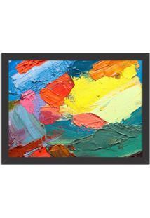 Quadro Decorativo Abstrato Moderno Colour Preto - Grande